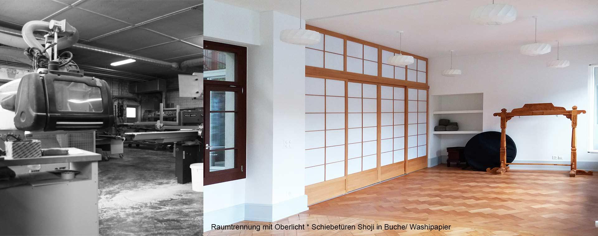 Shoji Raumtrennung in Buche von Holzrwum in Freiburg