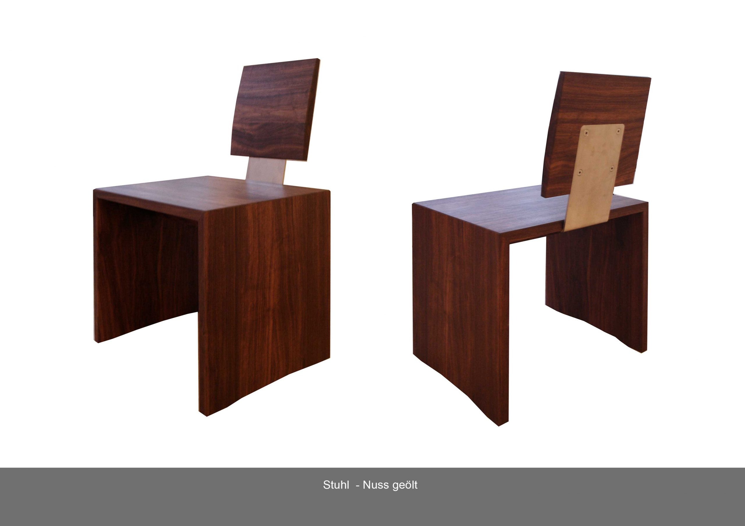 Stuhl Massivholz Nuss geölt