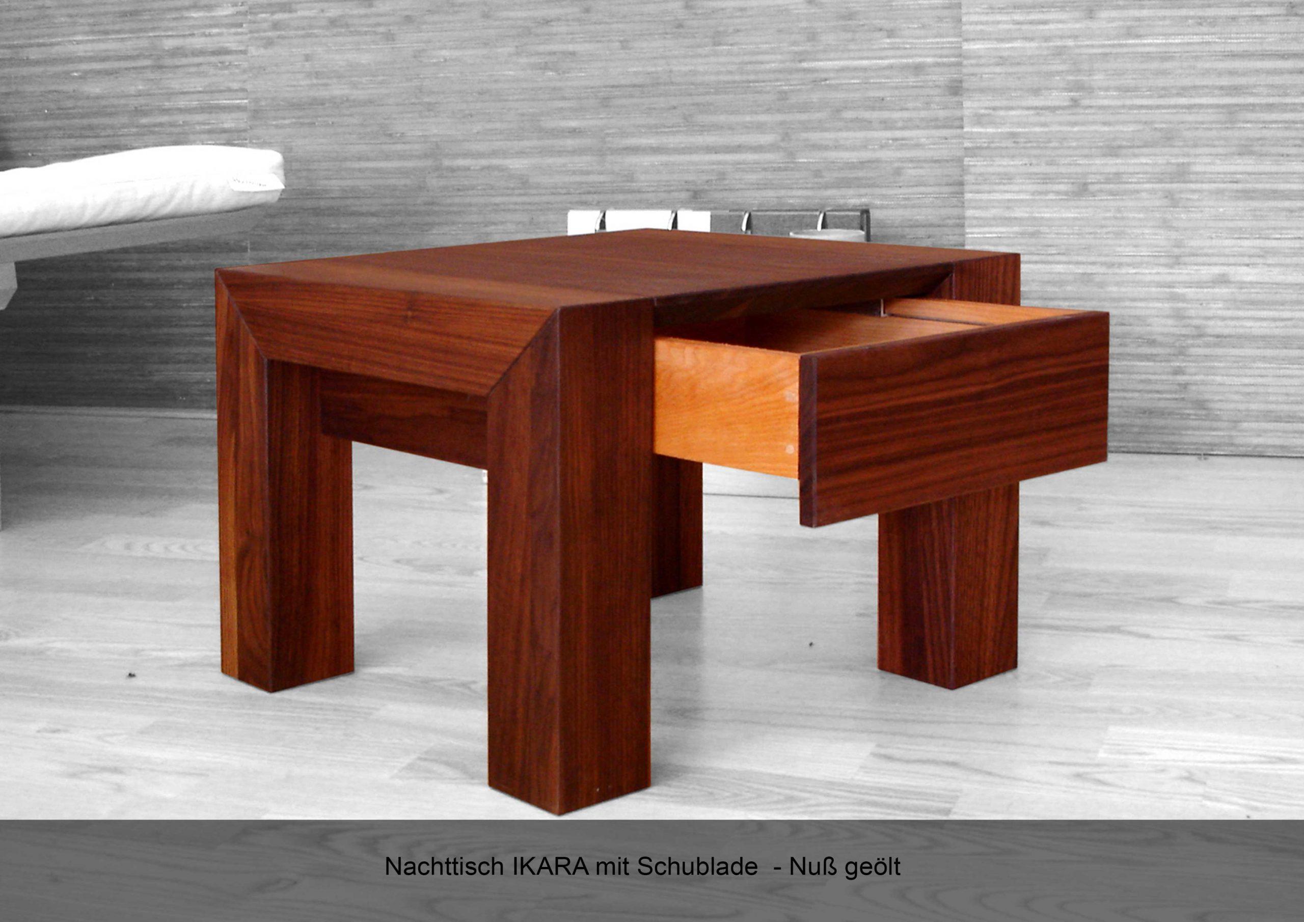 Nachttisch Massivholz IKARA Nussbaum geölt