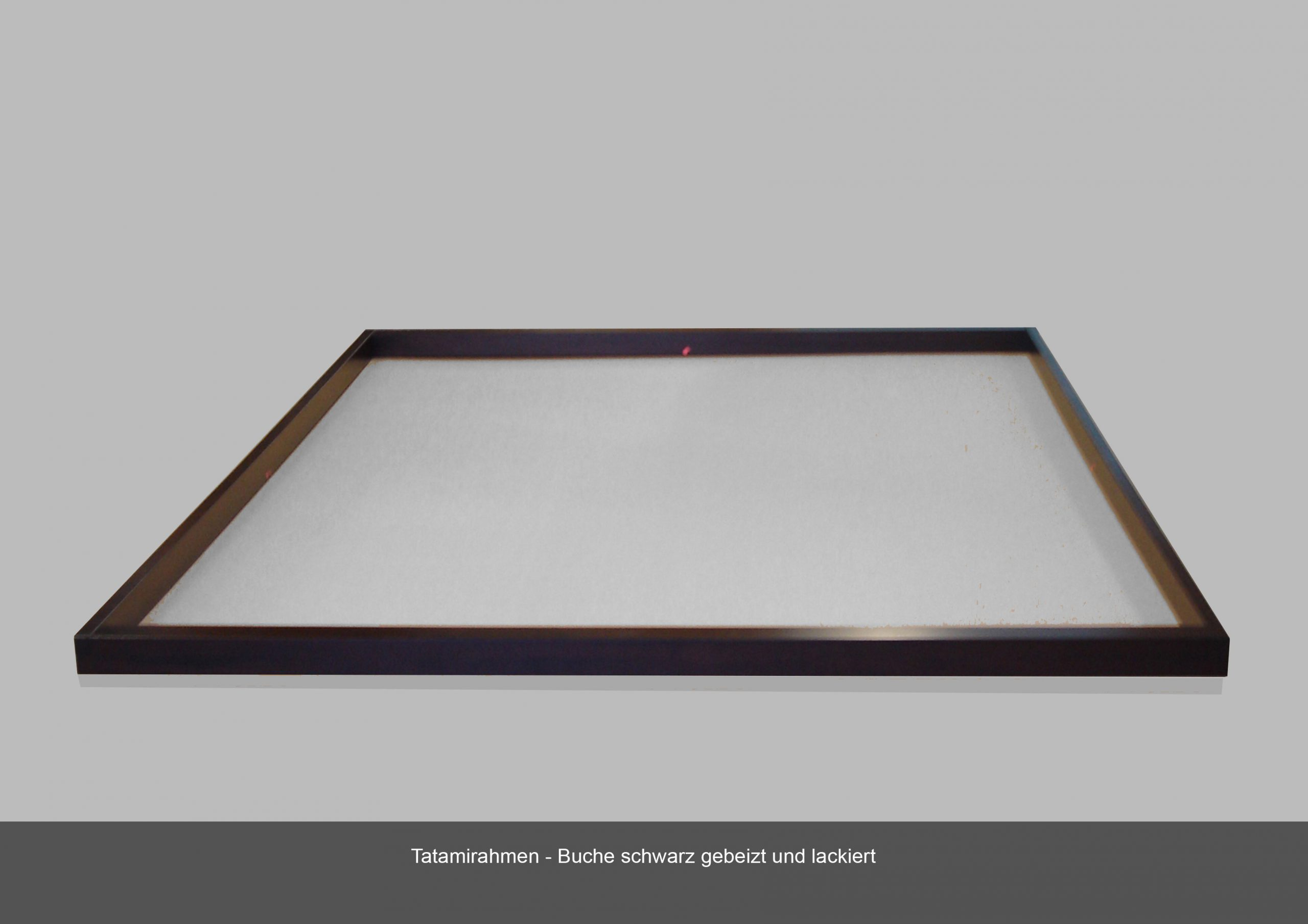 Tatamirahmen Massivholz Buche schwarz gebeizt lackiert