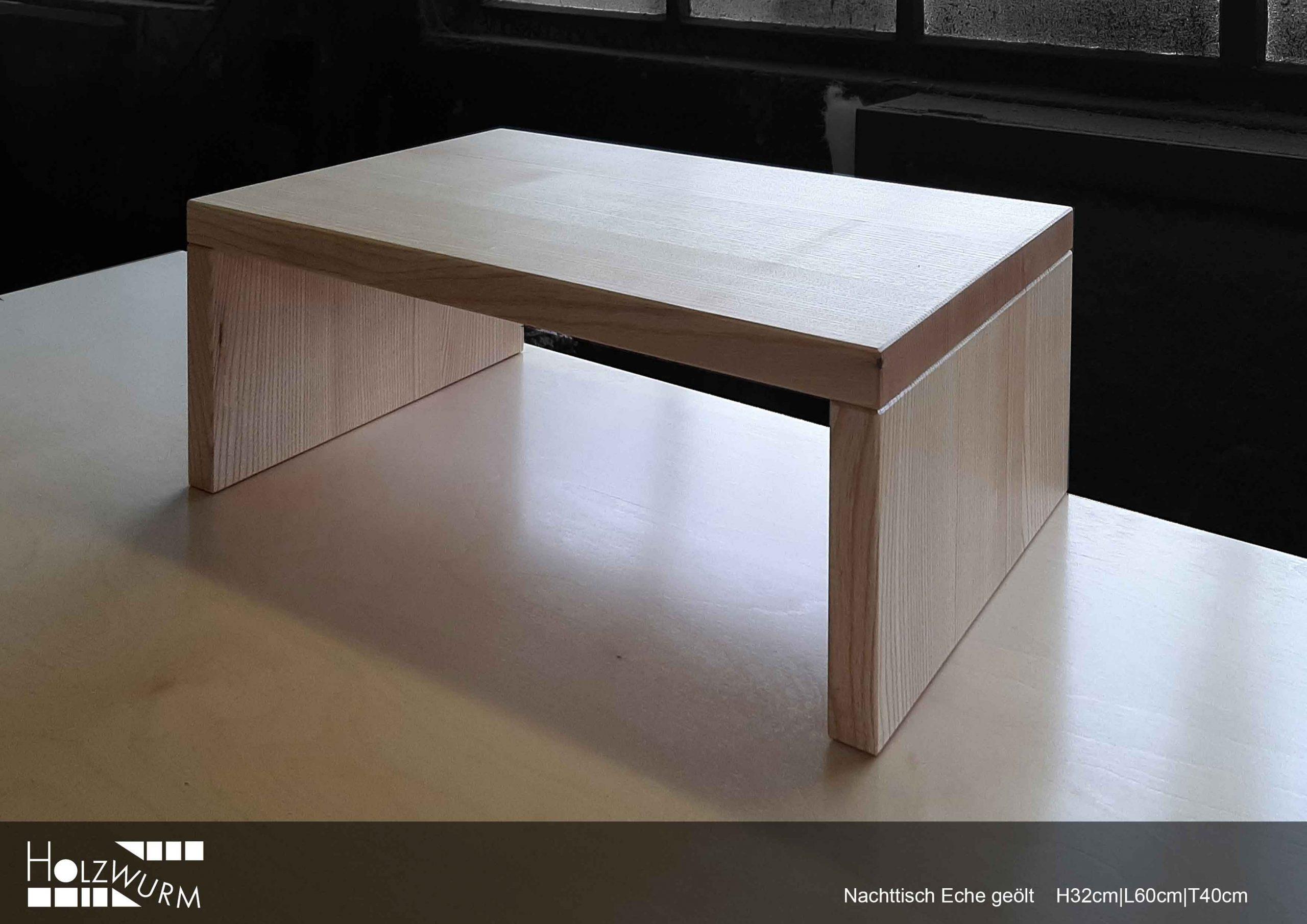 Nachttisch in Esche geölt