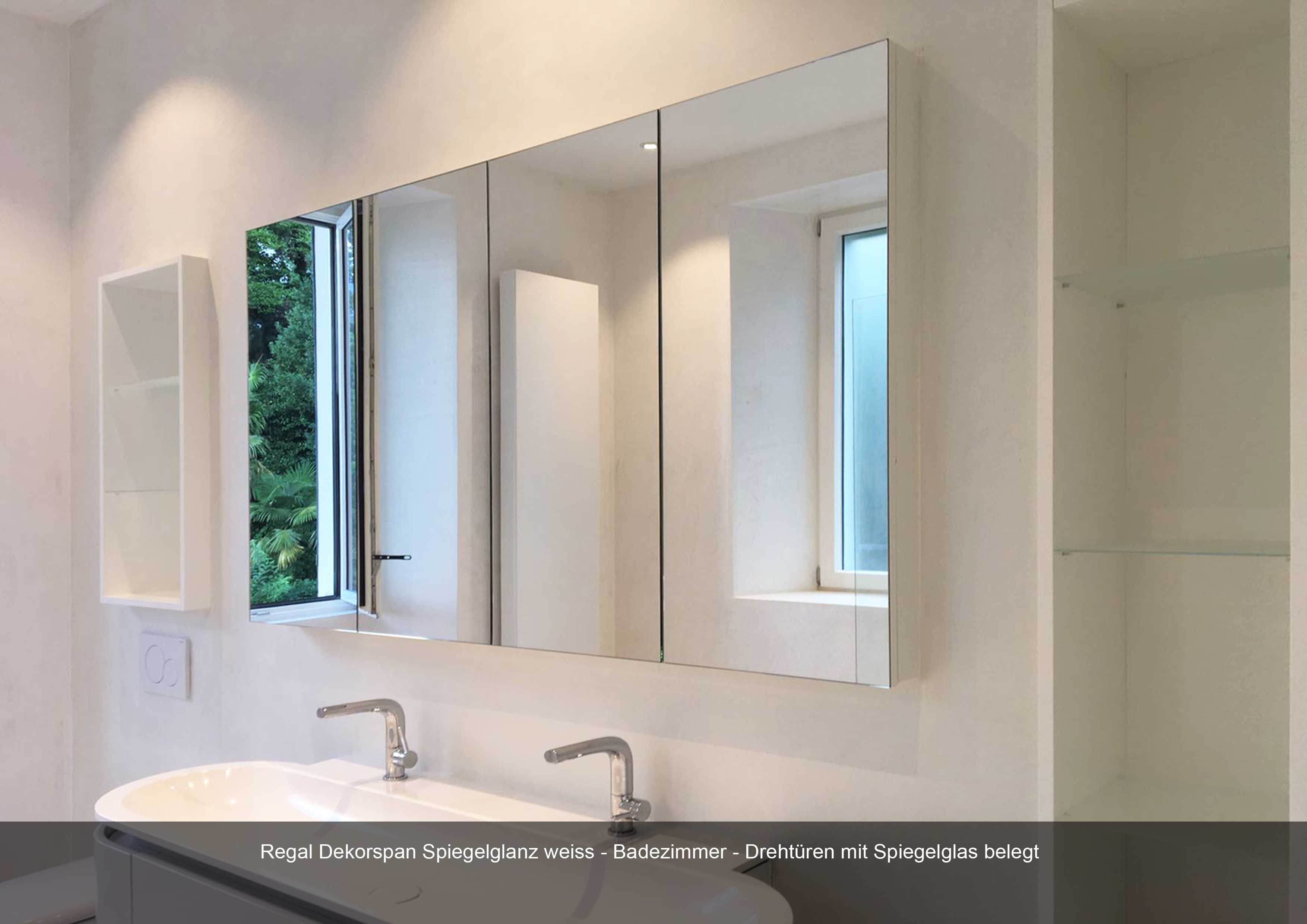 Badezimmerschrank in Dekorspan weiss